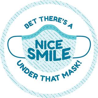 Nice Smile Circle Floor Decal - Adhesive Vinyl Sticker