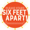 Six Feet Circle Floor Decal - Adhesive Vinyl Sticker