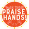 Praise Hands Circle Floor Decal - Adhesive Vinyl Sticker