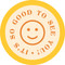 So Good to See You Circle Floor Decal - Adhesive Vinyl Sticker