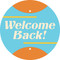 Welcome Back Circle Floor Decal - Adhesive Vinyl Sticker