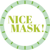 Nice Mask Circle Floor Decal - Adhesive Vinyl