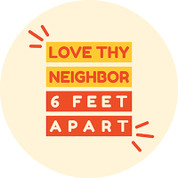 Love Thy Neighbor Circle Floor Decal - Adhesive Vinyl