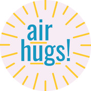Air Hugs Circle Floor Decal - Adhesive Vinyl