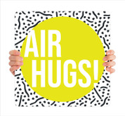 COVID ReOpen Handheld - Style 1 - Air Hugs Yellow