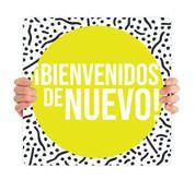 COVID ReOpen Handheld - Style 1 Spanish - Bienvenidos de Nuevo