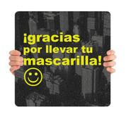 COVID ReOpen Handheld - Style 2 Spanish - Gracias por Llevar Mascarilla