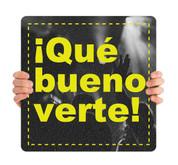COVID ReOpen Handheld - Style 2 Spanish - Qué Bueno Verte
