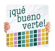 COVID ReOpen Handheld - Style 3 Spanish - Qué Bueno Verte