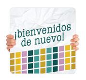 COVID ReOpen Handheld - Style 3 Spanish - Bienvenidos de Nuevo