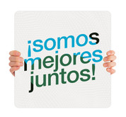 COVID ReOpen Handheld - Style 7 Spanish - Somos Mejores Juntos