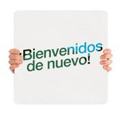 COVID ReOpen Handheld - Style 7 Spanish - Bienvenidos de Nuevo