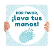 COVID ReOpen Handheld - Style 8 Spanish - Lava Tus Manos