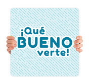 COVID ReOpen Handheld - Style 8 Spanish - Qué Bueno Verte