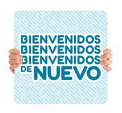 COVID ReOpen Handheld - Style 8 Spanish - Bienvenidos de Nuevo