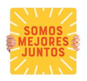 COVID ReOpen Handheld - Style 9 Spanish - Somos Mejores Juntos