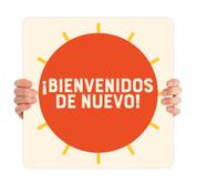 COVID ReOpen Handheld - Style 9 Spanish - Bienvenidos de Nuevo
