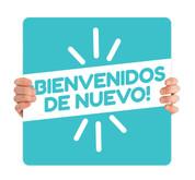 COVID ReOpen Handheld - Style 10 Spanish -  Bienvenidos de Nuevo