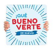 COVID ReOpen Handheld - Style 11 Spanish - Qué Bueno Verte de Nuevo