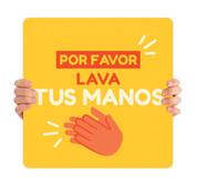 COVID ReOpen Handheld - Style 14 Spanish - Lava Tus Manos