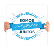 COVID ReOpen Handheld - Style 15 Spanish - Somos Mejores Juntos
