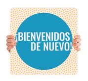 COVID ReOpen Handheld - Style 16 Spanish - Bienvenidos de Nuevo