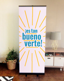 retractable indoor banner