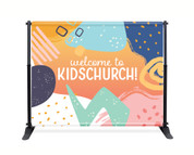 Kids Welcome Shapes Backdrop