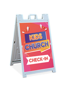 Sandwich Sign - Kids Church Check-In