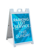 Sandwich Sign - Parking Lot Service Blue