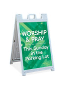 Sandwich Sign - Parking Lot Service Green