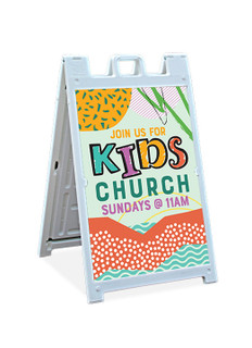 Kids Church Sandwich Sign