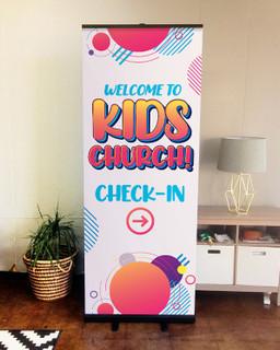 banner for church children's ministry