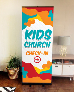 banner for church children's ministry