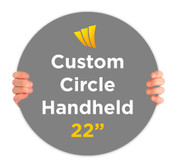 Custom Circle Handheld Signs that Pop!