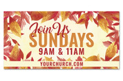 outdoor fall banner