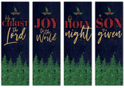 Christmas banners set of 4