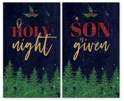 Christmas banners set of 2