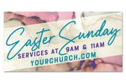 Outdoor Easter vinyl banner