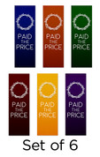 Set of 6 Paid the Price Church Banners