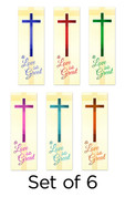 Set of 6 A Love So Great Church Banners