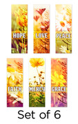 Set of 6 Spring Worship Church Banners