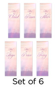 Set of 6 Three Crosses Set 17 Church Banners