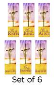 Set of 6 Risen Cross Set 20 Church Banners