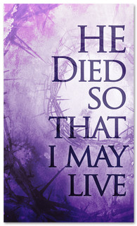 3x5 He Died V2 Church Banner