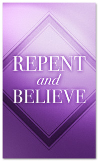 3x5 Repent and Believe V1 Church Banner