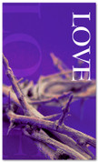 3x5 Purple Crown Love Church Banner