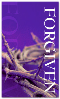 3x5 Purple Crown Forgiven Church Banner