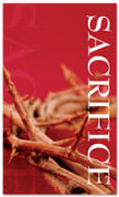3x5 Red Thorns Sacrifice Church Banner