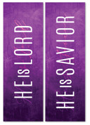 Set of 2 Purple Concrete Lent Banners